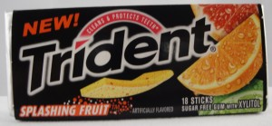 Trident Splashing Fruit Gum