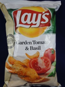 Lay's Garden Tomato and Basil flavored Potato Chips