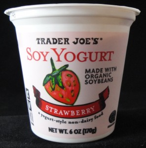 Trader Joe's soy yogurt strawberry flavor review