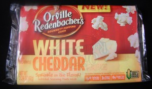 New!  Orville Redenbacher's Whte Cheddar Popcorn, review
