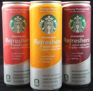Starbucks Refreshers, Sparkling Energy Beverage with green coffee extract, flavor review