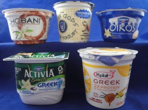 Greek Yogurt Vanilla flavored products