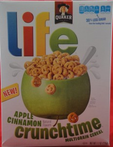 Life Apple Cinnamon Crunchtime multigrain cereal, flavor review