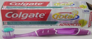 Colgate Total Advanced fresh+whitening fresh gel, flavor review