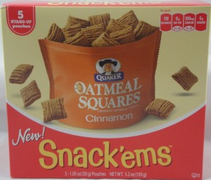 Quaker Oatmeal Squares Cinnamon Snack'ems™, Review