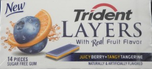 Trident Layers Juicy Berry & Tangy Tangerine sugar free gum, flavor review