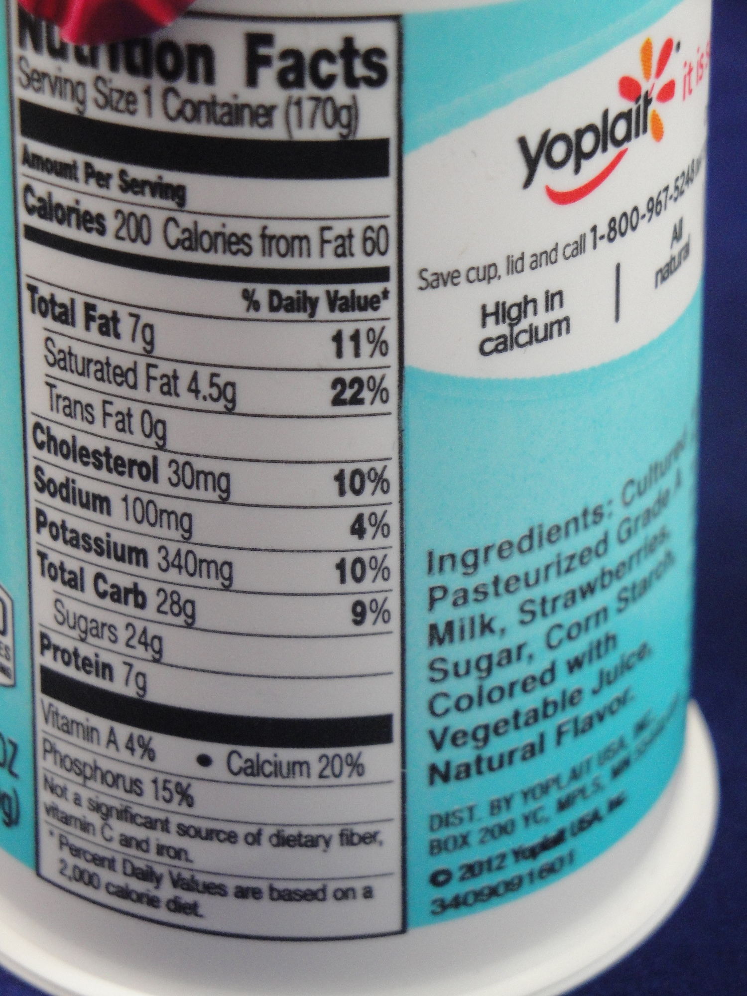 Yoplait Light Yogurt Nutrition Label Yoplait simplait yogurtYoplait Yogurt Nutrition Label