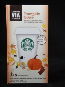 Starbucks VIA Ready Brew Pumpkin Spice Latte, flavor review