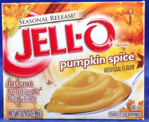 Jell-O Pumpkin Spice instant pudding & pie filling, flavor review