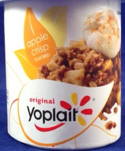 Limited Edition Apple Crisp Flavored Yoplait yogurt, flavor review