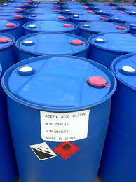 drum of acetic acid