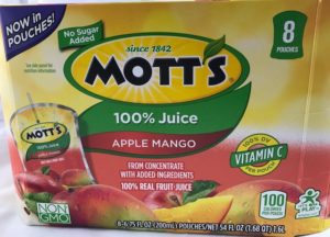 Mott's Apple Mango Juice Packs
